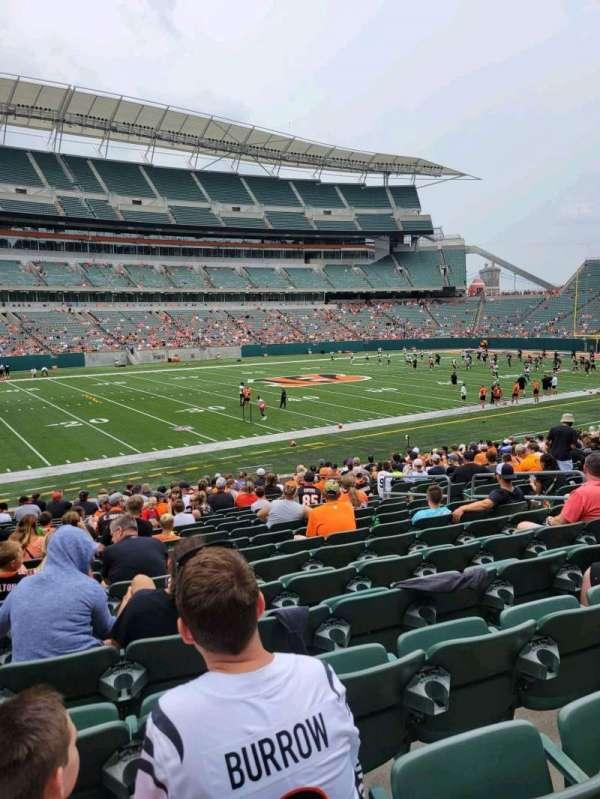 Paul Brown Stadium, section: 114, row: 21, seat: 10