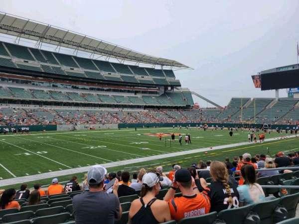 Paul Brown Stadium, section: 116, row: 11, seat: 7
