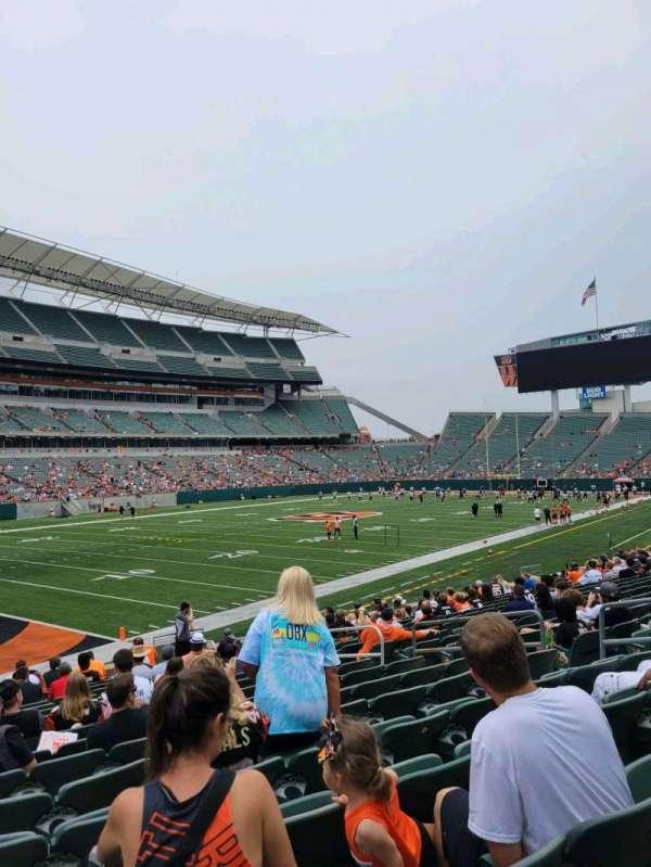 Paul Brown Stadium, section: 118, row: 17, seat: 10
