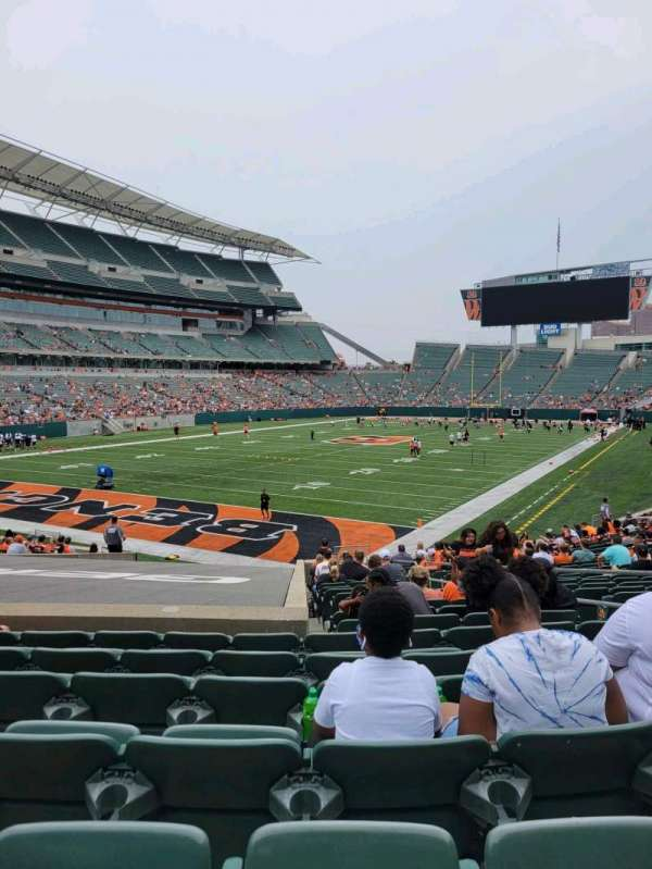 Paul Brown Stadium, section: 120, row: 24, seat: 6