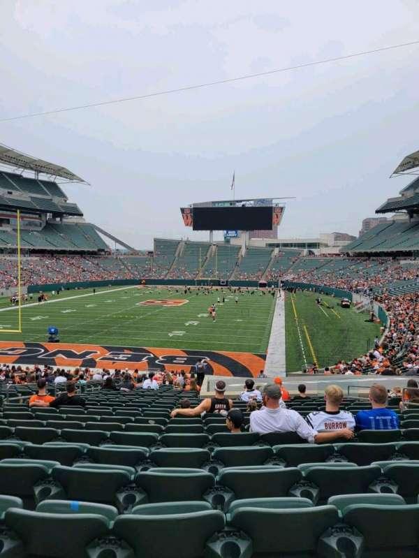 Paul Brown Stadium, section: 122, row: 32, seat: 10