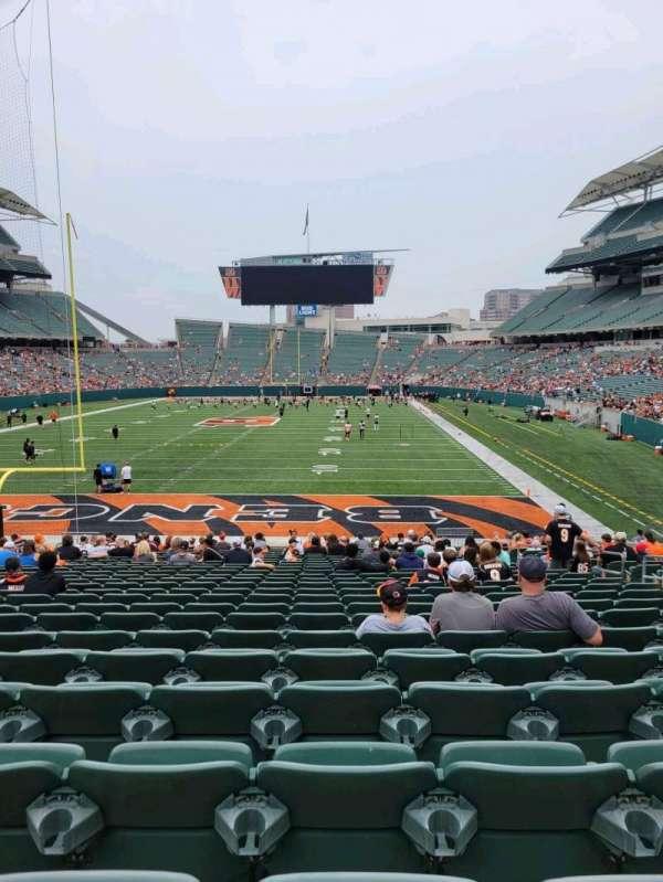 Paul Brown Stadium, section: 124, row: 24, seat: 10