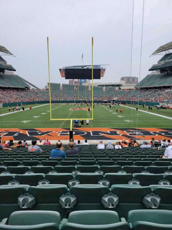 Paul Brown Stadium, section: 126, row: 18, seat: 9
