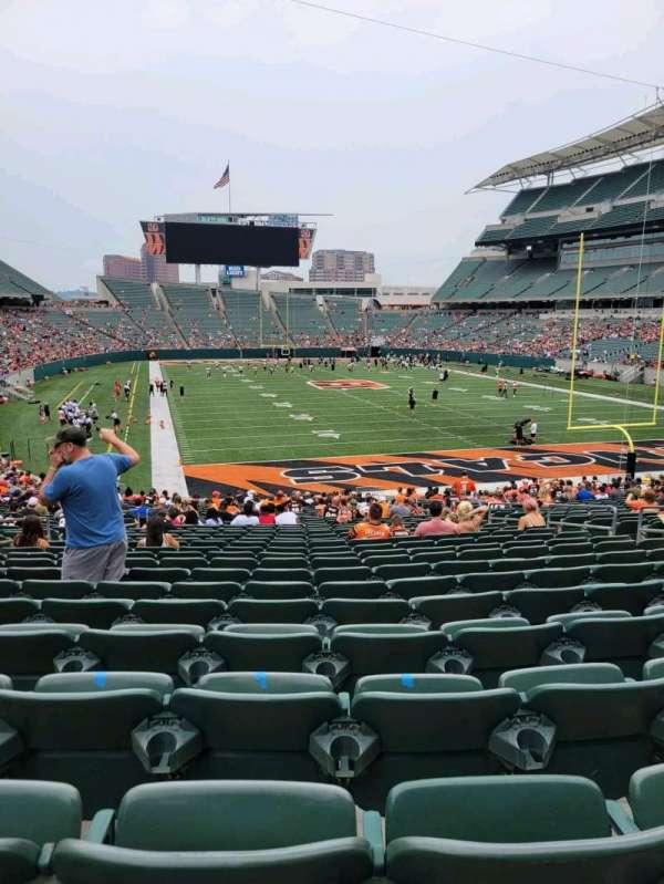 Paul Brown Stadium, section: 129, row: 31, seat: 10