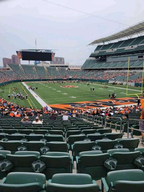 Paul Brown Stadium, section: 130, row: 33, seat: 3