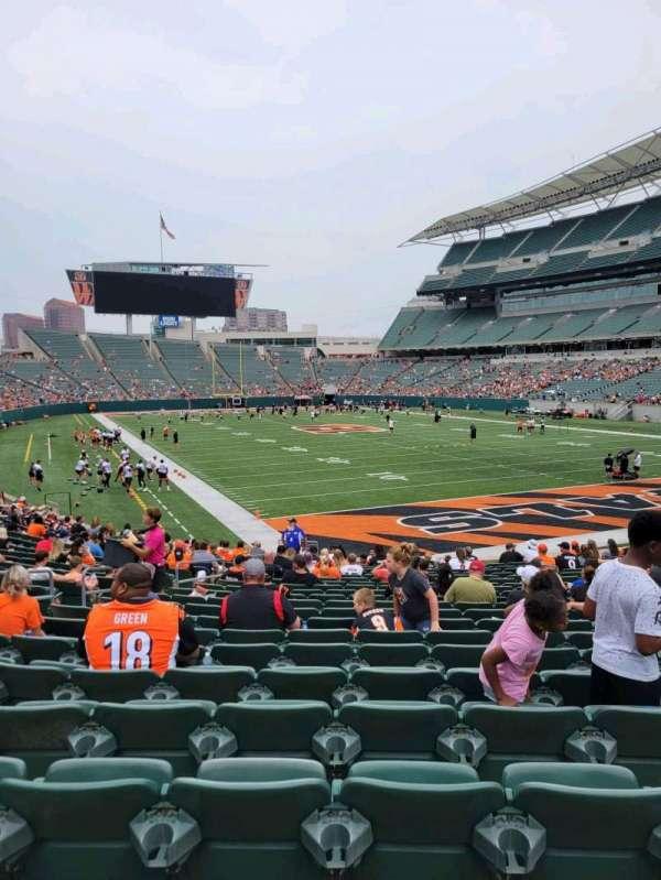 Paul Brown Stadium, section: 130, row: 21, seat: 10