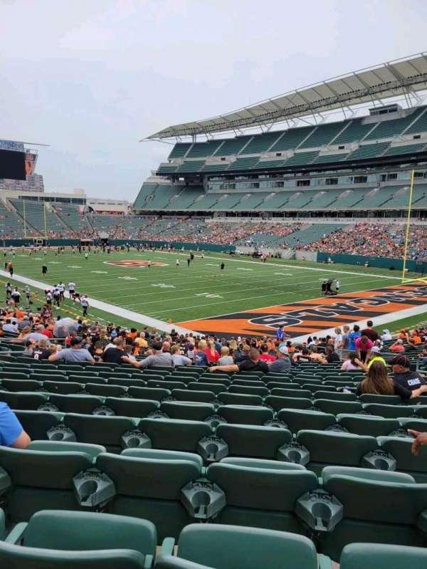 Paul Brown Stadium, section: 131, row: 27, seat: 10