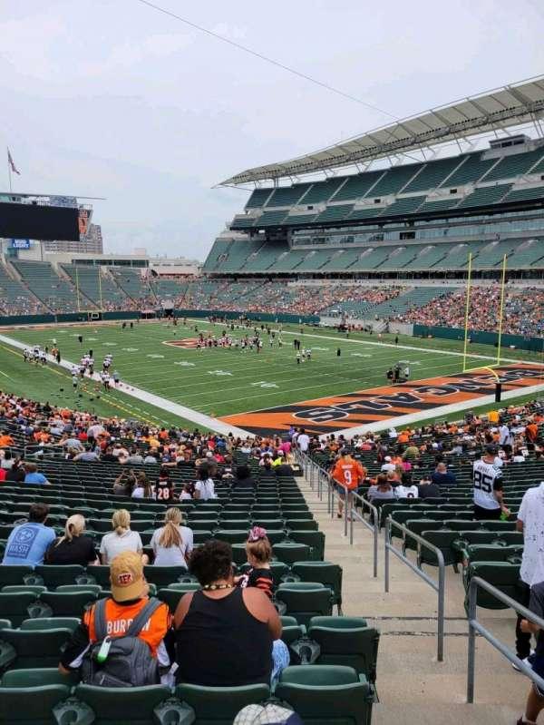 Paul Brown Stadium, section: 131, row: 37w, seat: 1