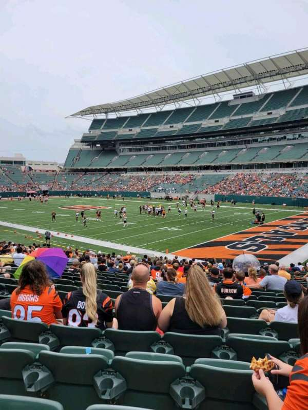 Paul Brown Stadium, section: 132, row: 23, seat: 10