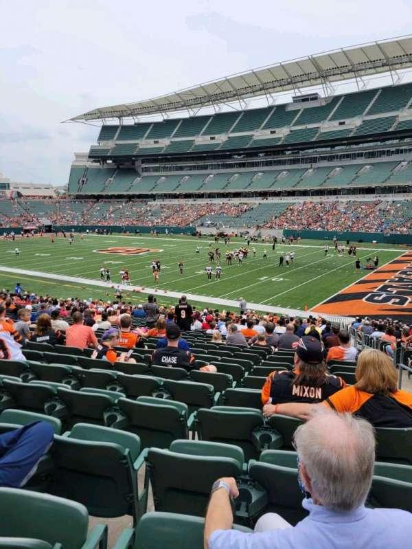 Paul Brown Stadium, section: 134, row: 30, seat: 1