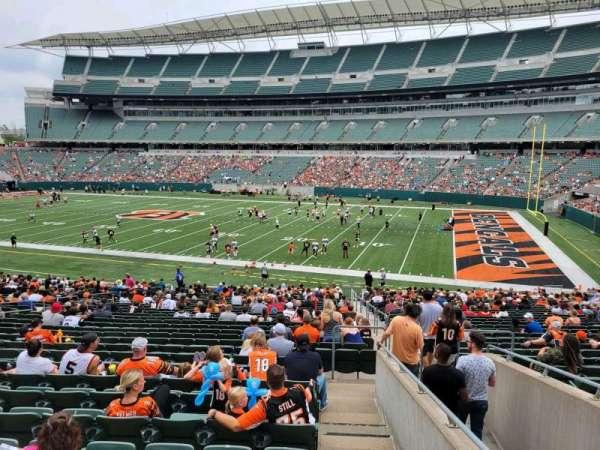Paul Brown Stadium, section: 136, row: 32w, seat: 3