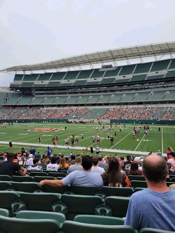 Paul Brown Stadium, section: 136, row: 23, seat: 6