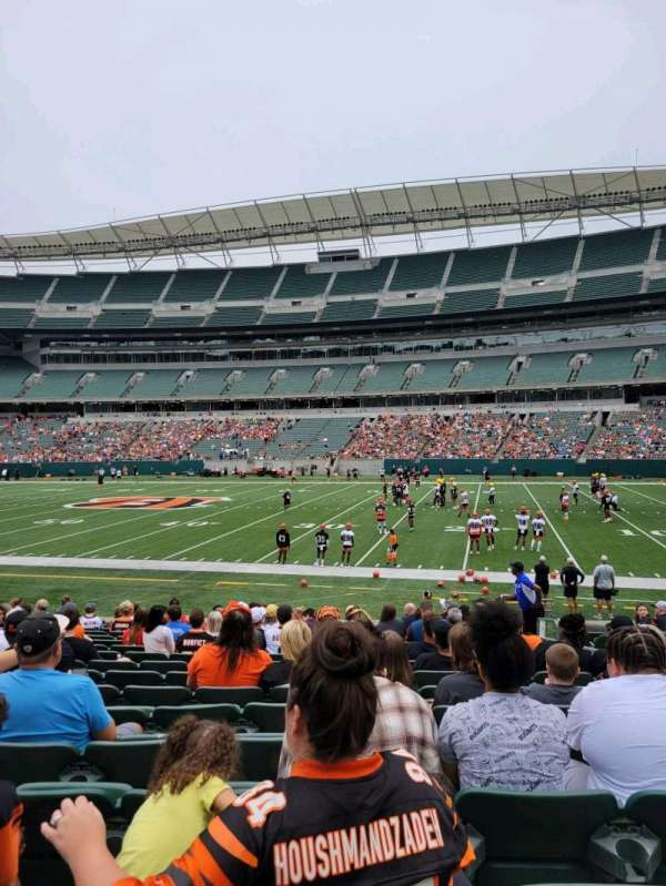 Paul Brown Stadium, section: 138, row: 15, seat: 5