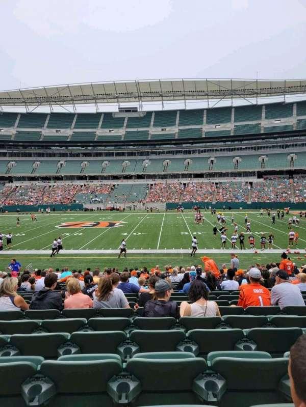 Paul Brown Stadium, section: 139, row: 21, seat: 9