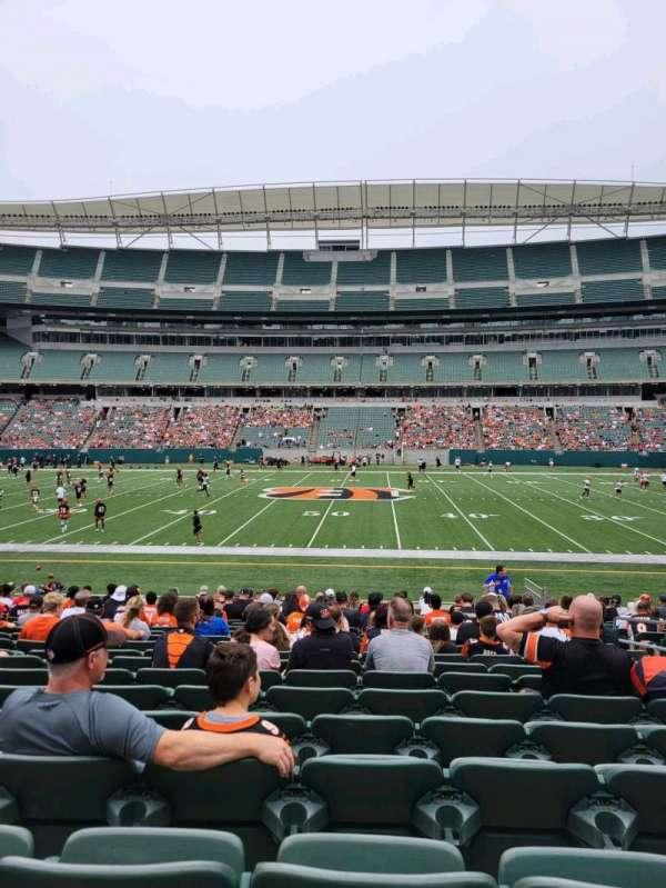 Paul Brown Stadium, section: 140, row: 18, seat: 7
