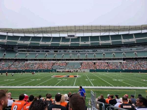 Paul Brown Stadium, section: 140, row: 10, seat: 1
