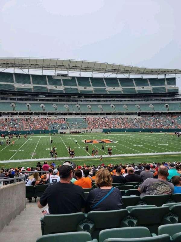 Paul Brown Stadium, section: 141, row: 30, seat: 21