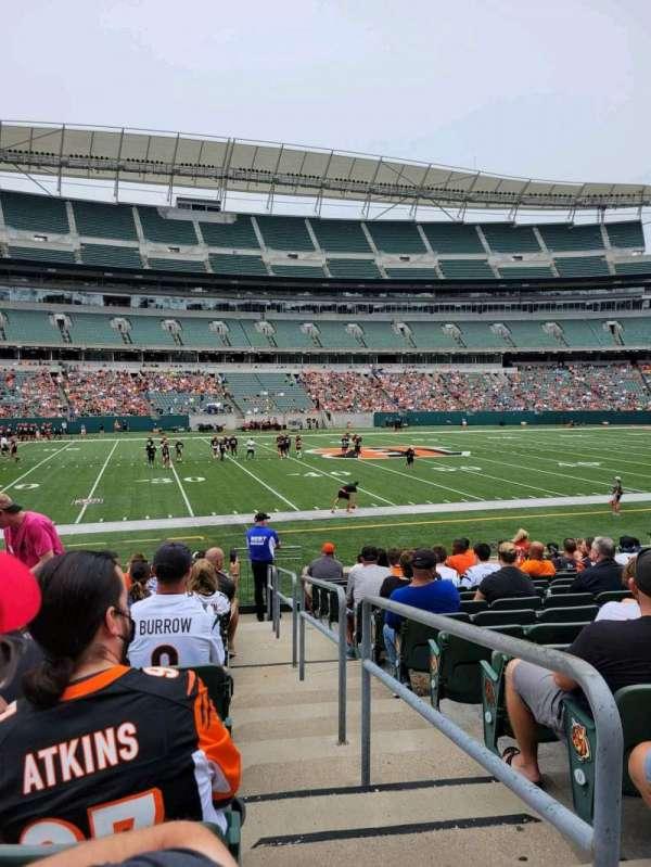 Paul Brown Stadium, section: 142, row: 13, seat: 1