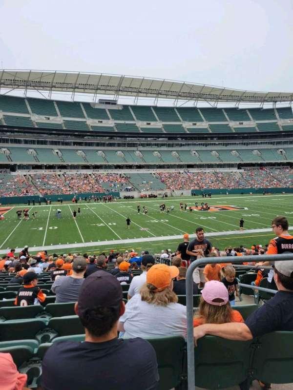 Paul Brown Stadium, section: 144, row: 25, seat: 3