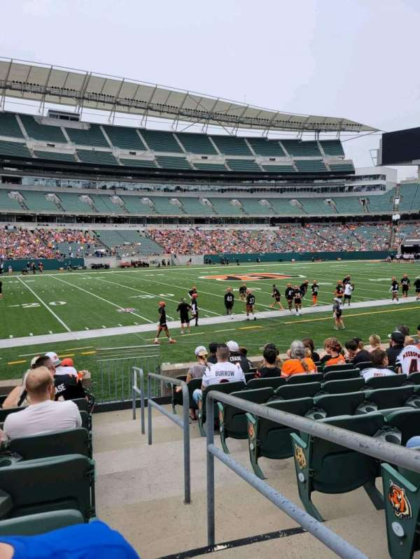 Paul Brown Stadium, section: 144, row: 9, seat: 1