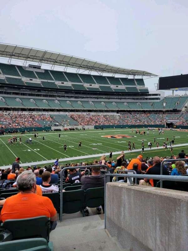 Paul Brown Stadium, section: 146, row: 27, seat: 3
