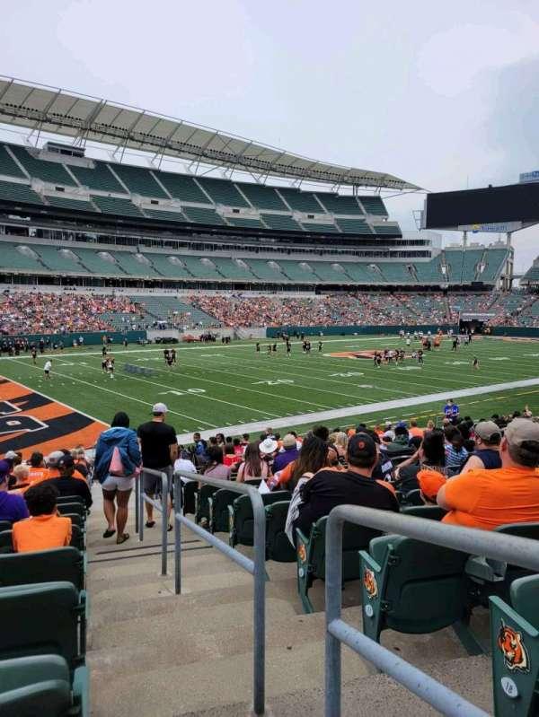 Paul Brown Stadium, section: 148, row: 20, seat: 1