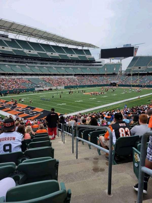Paul Brown Stadium, section: 149, row: 32, seat: 1