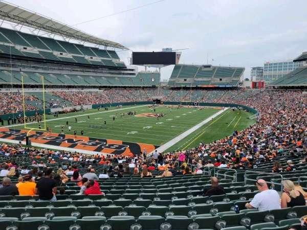 Paul Brown Stadium, section: 150, row: 37w, seat: 7