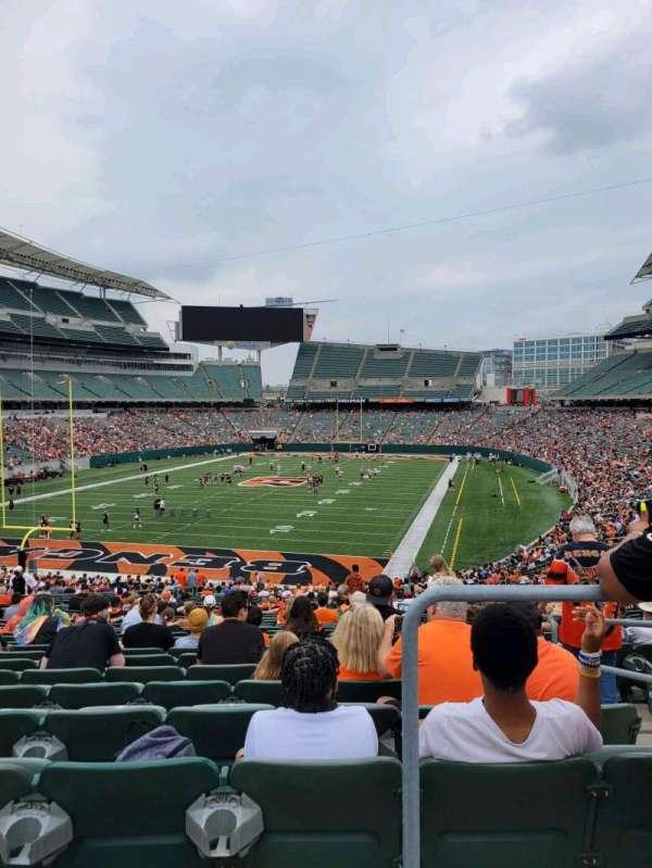 Paul Brown Stadium, section: 151, row: 41, seat: 1