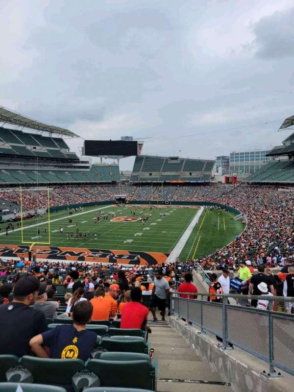 Paul Brown Stadium, section: 151, row: 51, seat: 1