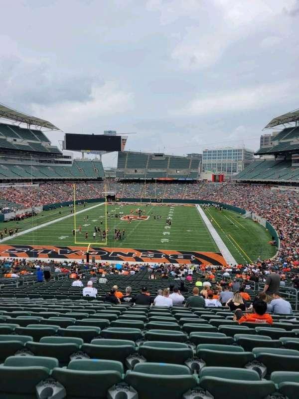 Paul Brown Stadium, section: 152, row: 52, seat: 10