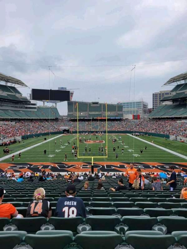 Paul Brown Stadium, section: 154, row: 34, seat: 10