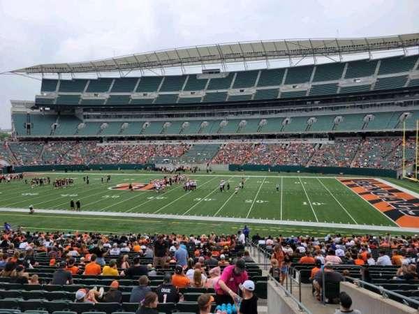 Paul Brown Stadium, section: 138, row: 32w, seat: 3