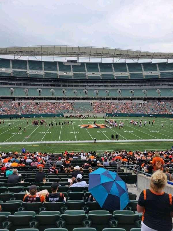 Paul Brown Stadium, section: 141, row: 32w, seat: 6