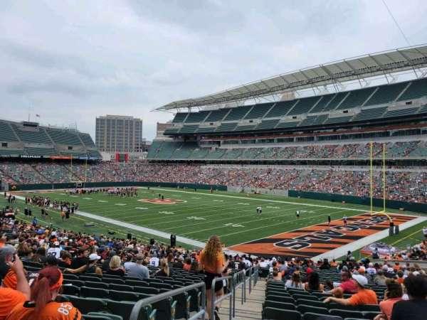 Paul Brown Stadium, section: 101, row: 32, seat: 26