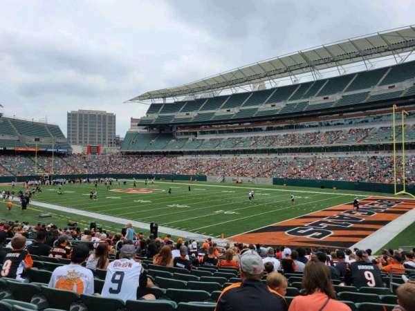 Paul Brown Stadium, section: 102, row: 20, seat: 5