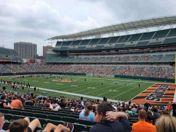Paul Brown Stadium, section: 104, row: 28, seat: 4