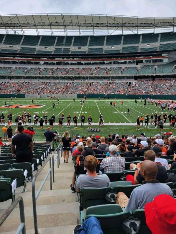 Paul Brown Stadium, section: 108, row: 15, seat: 20