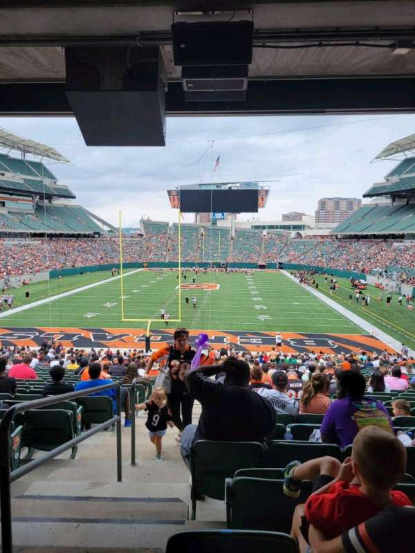 Paul Brown Stadium, section: 124, row: 38, seat: 26