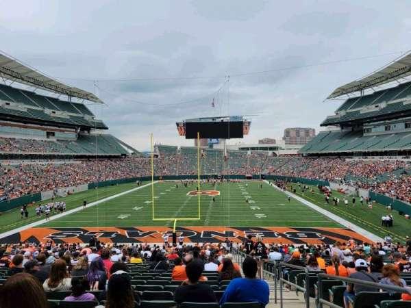 Paul Brown Stadium, section: 126, row: 35, seat: 1