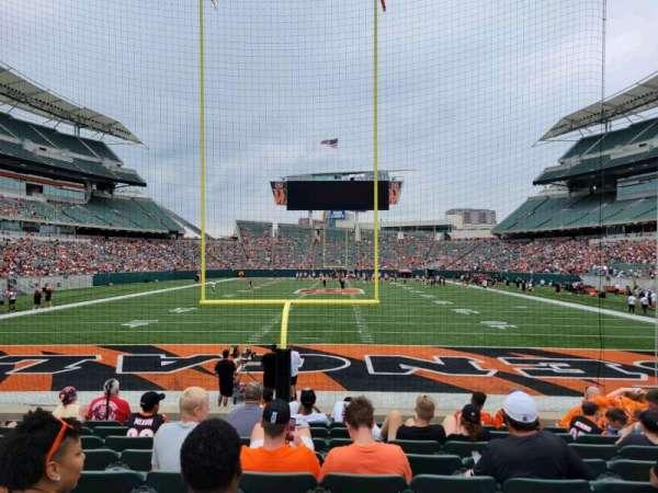 Paul Brown Stadium, section: 126, row: 9, seat: 9