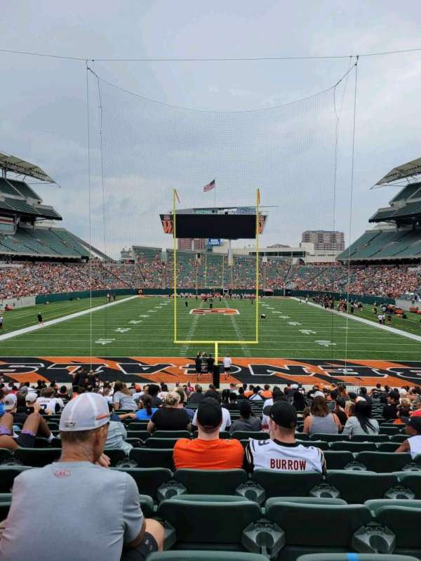 Paul Brown Stadium, section: 126, row: 25, seat: 13