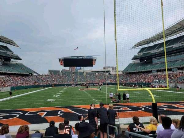 Paul Brown Stadium, section: 128, row: 7, seat: 1