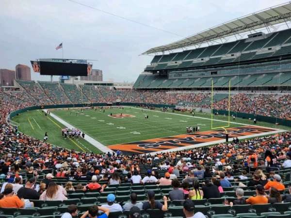 Paul Brown Stadium, section: 130, row: 37w, seat: 10