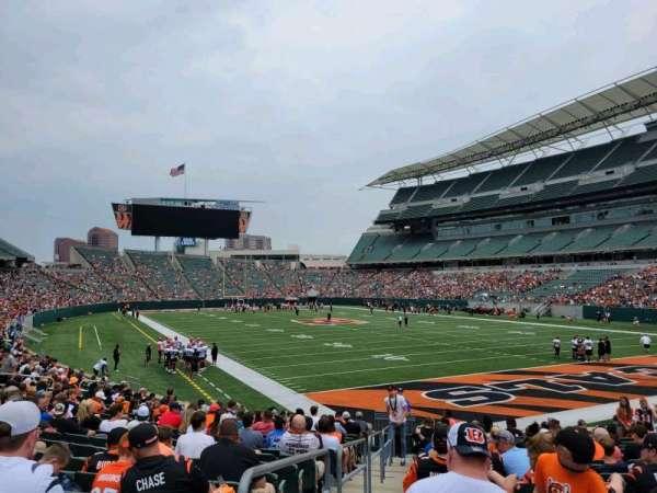 Paul Brown Stadium, section: 130, row: 17, seat: 16