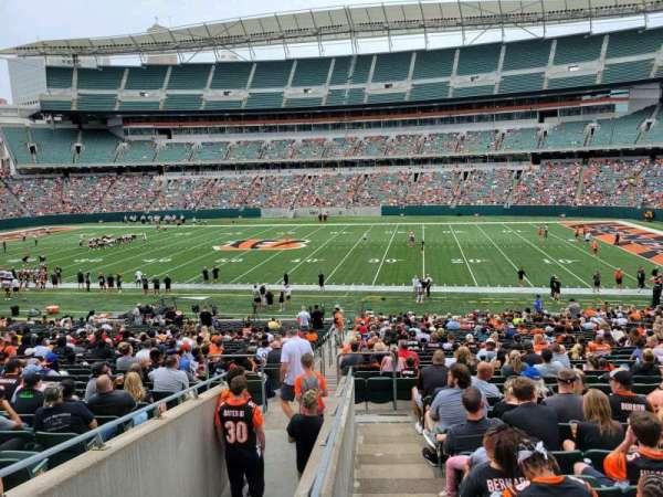 Paul Brown Stadium, section: 108, row: 32w, seat: 17