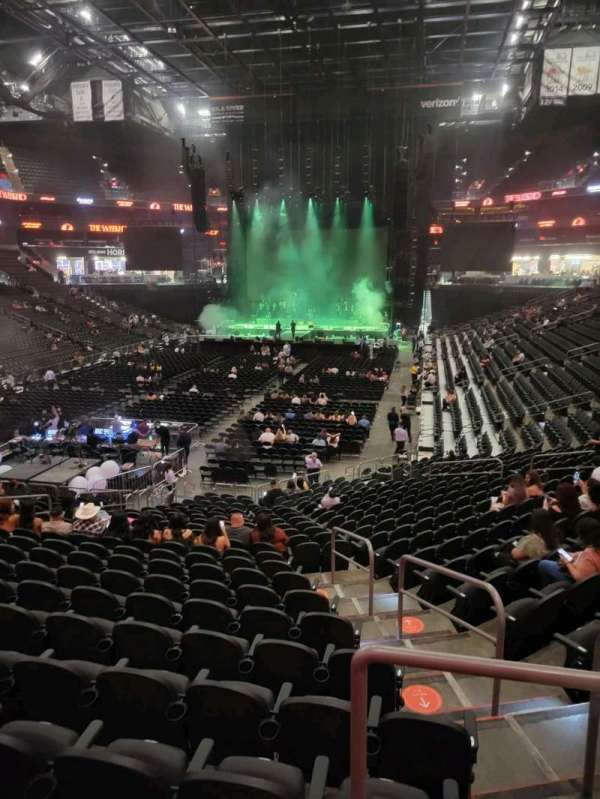 Footprint Center, section: 107, row: 22, seat: 3
