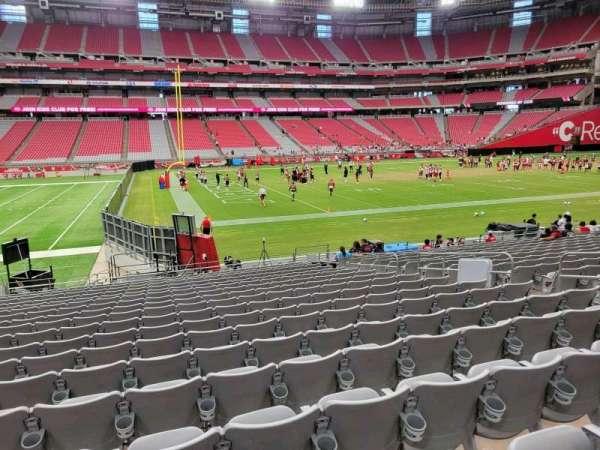 State Farm Stadium, section: 110, row: 18, seat: 10