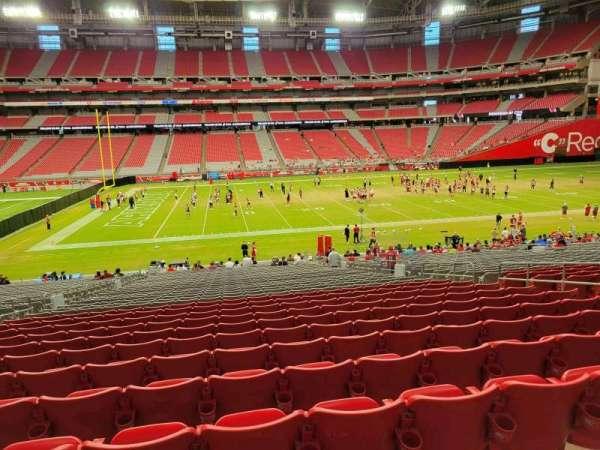 State Farm Stadium, section: 108, row: 34, seat: 10