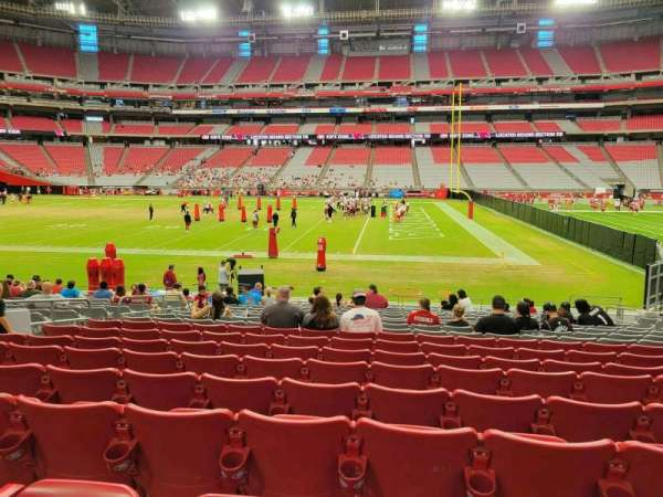State Farm Stadium, section: 129, row: 17, seat: 10